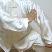 太極拳の演舞や練習なら、1枚は持っていたい表演服!ポリエステル製なら、お手入れ簡単、お値段もお手ごろ...