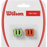 ウイルソン プロ・フィール グリーン/オレンジ 2個入り WRZ538700 テニス バイブレーションストッパー メール便6点まで ゆうパケット(メール便)対応 2017SS