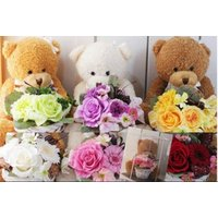贈って嬉しい、もらって幸せ  ほんの少しの気持ちをプレゼントにしてみませんか?  クマ3色&花6色の...
