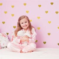 ウォールステッカー ハート型 45個入り 壁飾り 部屋飾り シール キッズルーム ベビールーム 北欧 インテリア 雑貨子供部屋 赤ちゃん プレゼント