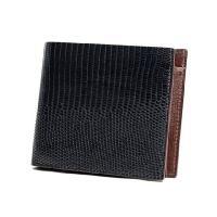 [素材]リザード/トカゲ革 色:ブラック/黒 横幅:11 高さ:9.5 マチ:1.9 財布としては日...