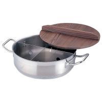 おでん鍋 おでん用品 ●商品名:21-0ステンレス製 TKGプロ 電磁用丸型おでん鍋[木蓋付] 小 ...