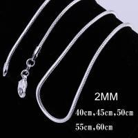 アクセサリー ネックレス シルバー 925 スネークチェーン チェーン シンプル レディース メンズ 2mm 銀 ユニセックス アクセ 蛇腹
