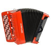 中型サイズのボディに、最新の音源を搭載。幅広い演奏シーンに活躍するVアコーディオン(ボタン鍵盤タイプ...