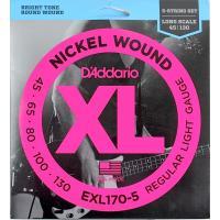 ダダリオ EXL170-5 5弦ベース弦です。34-36インチのベースに対応。ゲージは045/065...