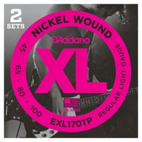 D'Addario EXL170TP/Regular Light 2セットパック ベース弦