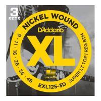ダダリオ EXL125-3D エレキギター弦/3セットパック です。