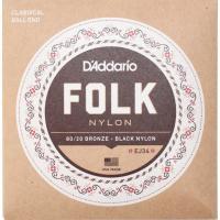 D'Addario FOLK NYLON EJ34 ボールエンド付きクラシックギター弦ボールエンド仕...