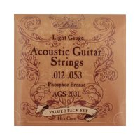 ARIA(アリア) AGS-203L 3セットパック アコースティックギター弦アリアのフォークギター...