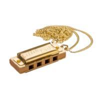 HOHNER 110/8 リトルレディーゴールド ミニハーモニカ ネックレス14K GOLD PLA...