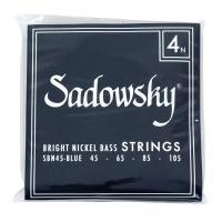 SADOWSKY(サドウスキー)SBN45 Blue ブルーラベル ニッケル 4弦エレキベース弦。滑...