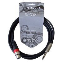 Silk Road LM204-3 マイクケーブル XLRメス-フォン 3メートル高いコストパフォー...
