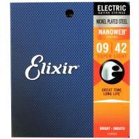 ELIXIR 12002 NANOWEB Super Light 09-42 エレキギター弦極薄ポリ...