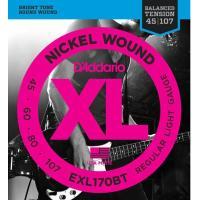 D'Addario(ダダリオ)EXL170BT Regular Light 45-107 エレキベー...