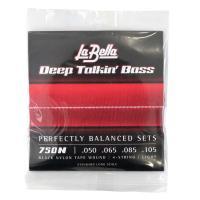 La Bella 750N Black Nylon Tape Wound 50-105 エレキベース...