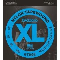 D'Addario(ダダリオ)ETB92 Black Nylon Tapewound エレキベース弦...