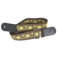 Morris MS2000 YELLOW ギターストラップレトロな刺繍が施されたギター用ストラップ。...