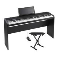 KORG B1 BK 電子ピアノ イス、純正スタンドセット※KORG STB1-BK BK B1専用...