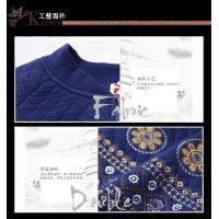 パーカー レディース ニット セーター 厚め ラシャ 棉100% 刺繍 復古風 ハーフコート 大きいサイズ レディーストップス 1101-1104