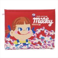 二つ折り財布 ミルキーはママの味 ギフト雑貨 不二家のペコちゃん キャラクター グッズ アートウエルド かわいい L字ファスナーウォレット