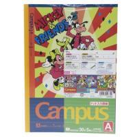 ミッキー&フレンズ キャンパス ノート 5冊パック 横罫 ノート A罫 ディズニー グッズ キャラクター