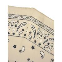 Altea【アルテア】ひし形バンダナ柄スカーフ diamante 1850355 05 コットン シルク ベージュ