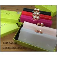 TED BAKER(テッドベーカー)Elinorrフューシャピンク クリスタルがま口長財布