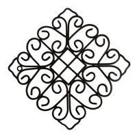 【商品コード:62406】  ブラックアイアンで可愛いデザインの壁飾りです。 細部にこだわったエレガ...