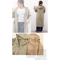 大きいサイズ レディース フードデザインロングジャケット|clette-online|06