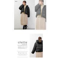 大きいサイズ レディース フェイクダウンフードコート clette-online 05