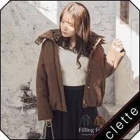 大きいサイズ レディース 中綿フードデザインコート|clette-online