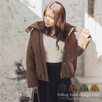 大きいサイズ レディース 中綿フードデザインコート|clette-online|02