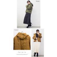 大きいサイズ レディース 中綿フードデザインコート|clette-online|07
