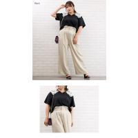 大きいサイズ レディース レース衿デザインカットソー|clette-online|04