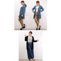 大きいサイズ レディース 裾レースロングカーディガン|clette-online|06