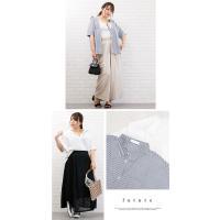 大きいサイズ レディース 半袖ゆるシルエットシャツ|clette-online|04