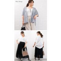 大きいサイズ レディース 半袖ゆるシルエットシャツ|clette-online|05