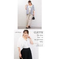 大きいサイズ レディース 半袖ゆるシルエットシャツ|clette-online|06