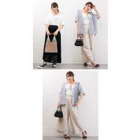 大きいサイズ レディース 半袖ゆるシルエットシャツ|clette-online|07