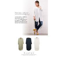 大きいサイズ レディース チュニック丈楊柳シャツ|clette-online|03