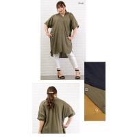 大きいサイズ レディース リネン混ロングシャツ|clette-online|04