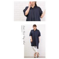 大きいサイズ レディース リネン混ロングシャツ|clette-online|05