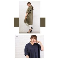 大きいサイズ レディース リネン混ロングシャツ|clette-online|07