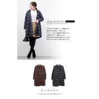 大きいサイズ レディース 長袖ロングチェックシャツ|clette-online|03