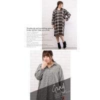 大きいサイズ レディース スキッパーデザインチェックシャツ|clette-online|05