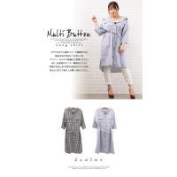 大きいサイズ レディース マルチ釦ロングシャツ|clette-online|03
