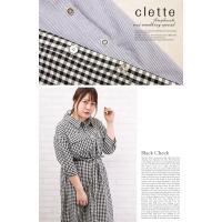 大きいサイズ レディース マルチ釦ロングシャツ|clette-online|06