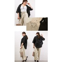 大きいサイズ レディース ゆるシルエット5分袖シャツ|clette-online|05