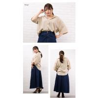 大きいサイズ レディース ゆるシルエット5分袖シャツ|clette-online|06