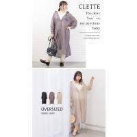 大きいサイズ レディース サイドスリットシアーロングシャツ|clette-online|08